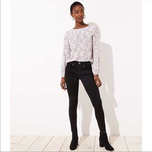 Loft Modern Skinny black jean